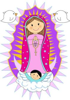 "Képtalálat a következőre: ""Carmen More"" Mama Mary, Holy Mary, Religious Images, Blessed Virgin Mary, Blessed Mother, First Communion, Cute Characters, Pop Art, Art Projects"