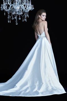 Wrap Skirt Wedding Dress - Paloma Blanca (STYLE 826) Pleated Bodice 35030830b42f