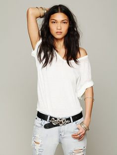 Free People Serpent Leather Belt, 198.00