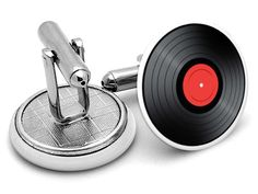Keep Dad spinning with these vinyl record #cufflinks. #fathersday