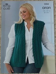 Knitting Patterns For Plus Size Sweaters : knitting pattern - Ladies Jacket Plus Size Aran Knit ...