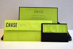 Black and Lime Luscious Verde Invitation