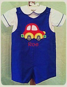 Boys Jon Jon Little Red Car with Personalization by GumdropGrove, $39.99