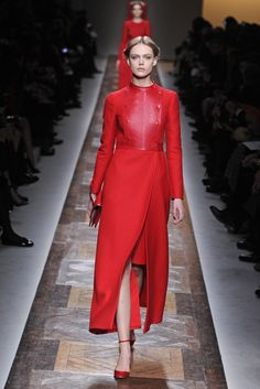 #Red trench by #Valentino RTW Fall 2012 - Runway, Fashion Week, Reviews and Slideshows - WWD.com  (Photo: Giovanni Giannoni)
