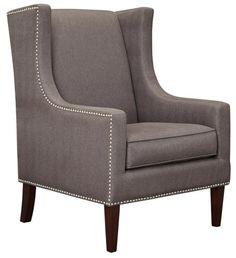 Barton High Back Wing Chair - Art Van Furniture