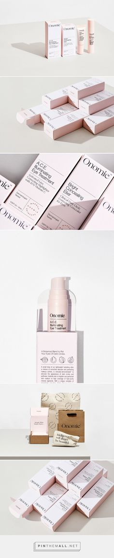 Identity and packaging for Onomie beauty on Behance - created via https://pinthemall.net