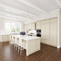 French Provincial Handpainted Kitchen With All Modern Appliances