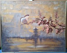 XL-61-034-x-48-034-Vtg-Mid-Century-Mod-Lee-Reynolds-Original-Signed-Asian-Oil-Painting