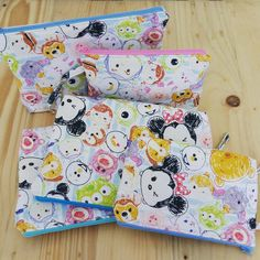 Firstly want to make bed cover,    but really cant't stand to see these tsum2, so buy the fabric to make bag, so lovely color and baby tsum2. Love it