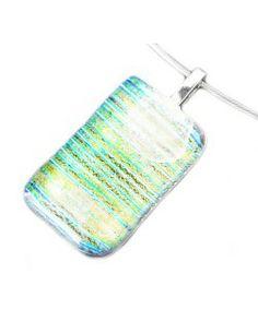 Mooie heldere glashanger van speciaal dichroide glas dat verkleurd op de huid!!