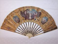 1770s - Fan with ladies before Hymen the god of love