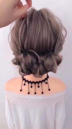 Easy Hairstyles For Long Hair, Cute Hairstyles, Braided Hairstyles, School Hairstyles, Hairstyle Short, Anime Hairstyles, Hairstyle Wedding, Hair Updo Easy, Hairstyles Videos