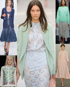 English country garden Indulge your summer-loving, pastel-sporting side in sugar-coated lace and the most idyllic of flower prints Clockwise...