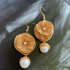 Crochet Earrings, Etsy, Drop Earrings, Jewelry, Fashion, Creative, Schmuck, Woman, Moda