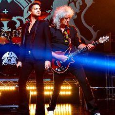 Mean Muggin w Brian May...    Source: Adam Lambert instagram