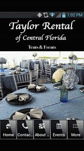 Taylor Rental Central Florida. Tents, tables and all your party rental needs. Call my good friends for your next event.