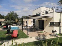 Pergola contemporaine avec bâche Architecture, Outdoor Decor, Summer, Home Decor, Gardens, Modern Pergola, Garden Deco, Contemporary, Arquitetura