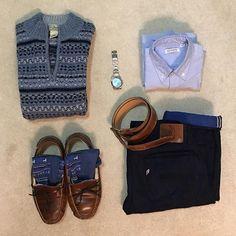 Next to last day of vacation #outfitgrid ____________________ Sweater: @llbean #wool #fairisle #chalkblue Shirt: @weargustin #1japanblueoxford Pants: @pure_blue_japan @pbj_harajuku @okayamadenim #xx018 #inigoxcobalt Socks: #alpaca Belt: @weargustin @horweenleather #dublinrollerbelt Slippers: @llbean #doubleleather #shearling Watch: @rolex #milgauss #zblue #116400gv ____________________ #style #mensstyle #fashion #mensfashion #llbean #sweater #slippers #weargustin #ocbd #purebluejapan #pbj…