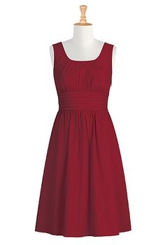 eShakti Michelle dress - ordered this with short sleeves - mid-calf length  - custom sized. It a Go-To Dress for sure!