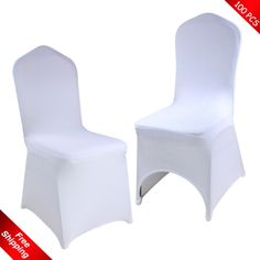 100 pcs Free Shipping !white Spandex/Lycra stretch chair covers…