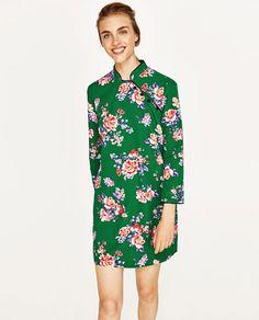 MINI DRESS WITH PRINT Zara Trends 09cd545e926
