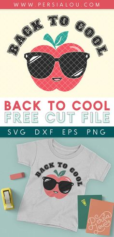 Back to Cool SVG Cut File - make awesome back to school projects with your Cricut or Silhouette and this free cut file design Bee Crafts, Vinyl Crafts, Designer Friends, Brother Scan And Cut, Iron On Vinyl, Cricut Tutorials, Little Designs, Cute Cuts, Free Svg Cut Files