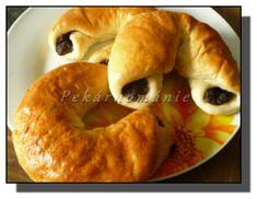 Martinské rohlíky – PEKÁRNOMÁNIE Bread And Pastries, Ciabatta, Bagel, Menu, Baking, Food, Menu Board Design, Bakken, Essen