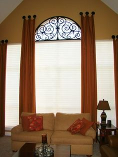 Custom Drapery & Tableaux Faux Iron Flower Mound Texas - eclectic - window treatments - dallas - Avenue Window Fashions