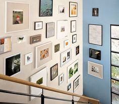 great stair photo wall