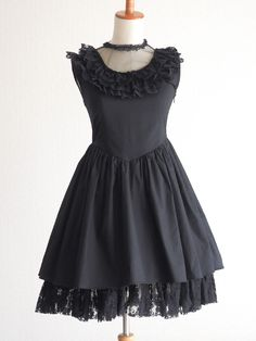La Pafait See-through Jet-Black OP Dress GYARU Lolita AGEHA AGEJO SizeF Japan #LaPafait #Peplum #Cocktail