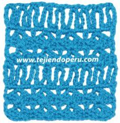 Tutorial: punto fantasía con cadenas largas tejido a crochet