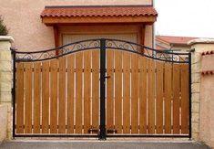 Home Gate Design, Grill Gate Design, Fence Gate Design, Steel Gate Design, Front Gate Design, Main Gate Design, Wooden Gate Designs, Wooden Gates, House Front Gate