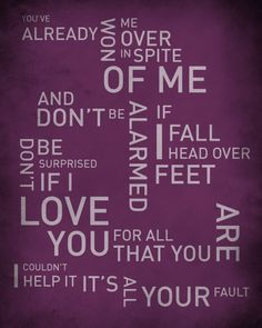 Head over Feet by Alanis Morissette #songlyricprint #typography #wordart