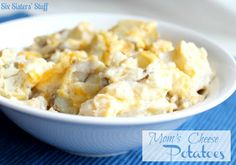 Moms Cheese Potatoes - Our Favorite Side Dish from Sixsistersstuff.com #sidedish #potatoes