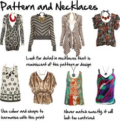 """""""Pattern and Necklaces"""" by imogenl on Polyvore"""