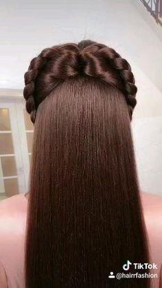 Hairdo For Long Hair, Long Hair Video, Bun Hairstyles For Long Hair, Girl Hairstyles, Braided Hairstyles, Daily Hairstyles, Hairstyle Ideas, Front Hair Styles, Medium Hair Styles