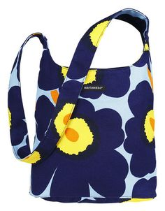 Magone Pieni Unikko Shoulder Bag Blue/Yellow | Kiitos Marimekko