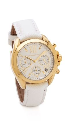 Michael Kors Leather | Bradshaw Watch | Have this watch with a brown leather band and love it.