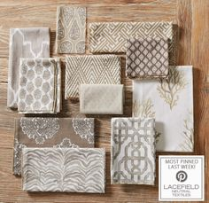 Textile Tuesday: Lacefield Neutral Textiles