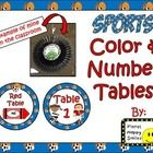 This product contains table signs in colors & numbers.  We laminated ours & hot glued them on a 16 inch party fan.  Then, we hung them from...