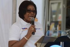 Mrs Matilda Asante-Asiedu - Head of Private and Women Banking addressing the audience at the draw