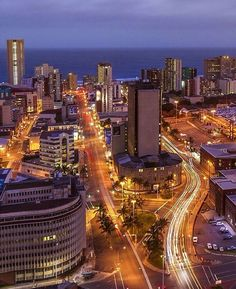 city at night! Pic: by Kwazulu Natal, Trotter, Night City, City Lights, Travel Around, East Coast, San Francisco Skyline, South Africa, Paris Skyline