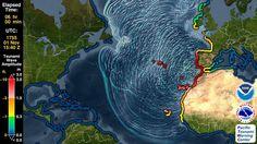 Tsunami Forecast Model Animation: Lisbon 1755