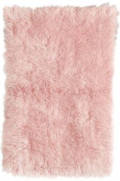 Flokati  Wool Area Rug  #Home #rug #pink #LynnFriedman #Design