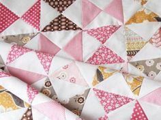 """A """"Pink Classic"""" Hourglass Quilt Tutorial"""