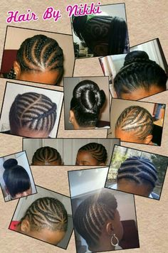 African-American braids and updos