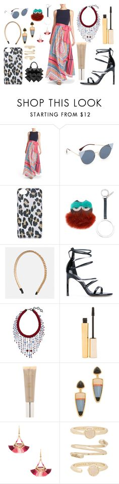 """Play glamorous"" by camry-brynn ❤ liked on Polyvore featuring Eliza J, Fendi, Kate Spade, Avenue, Stuart Weitzman, Sharra Pagano, Stila, Lizzie Fortunato, Shashi and Kendra Scott"