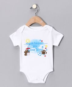 'Thank Heaven for Little Boys' Bodysuit - Infant by Mon Cheri Baby on #zulily today!