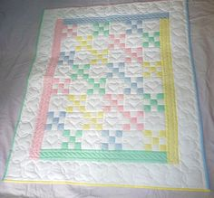 Amish Baby Quilt Traditional Nine Patch Quilt Pattern by QuiltsByAmishSpirit on Etsy https://www.etsy.com/listing/228829005/amish-baby-quilt-traditional-nine-patch