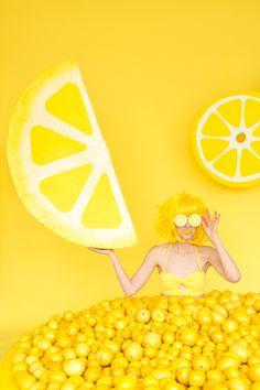 DIY Lemon Wedge Piñata
